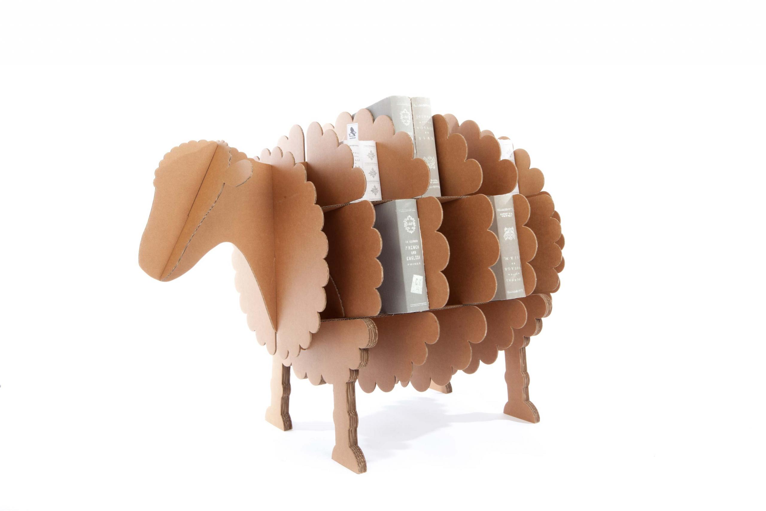 Fabriquer Une Bibliothèque En Carton cocorisheep l - étagère mouton en carton kraft